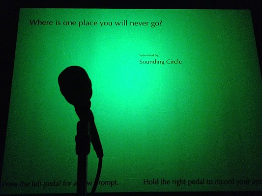 """""""Sounding Circle,"""" an interactive audio exhibit, is on display at the Spencer Museum of Art until Sept. 30."""