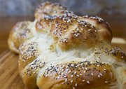 Katherine Berkowitz, Lawrence, bakes twice a week for family and friends and has had numerous award-winning entries in her years entering the open baking contest at the Douglas County Fair. Her specialties are yeast breads, such as this loaf of challah, and cakes.