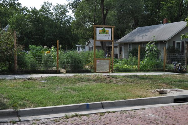 Entrance to the community garden at 1313 Pennsylvania St.