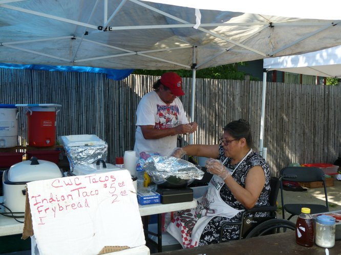 Ross Family Indian Tacos return to Cottin's Hardware Farmers Market, Thursday, July 26, 2012!
