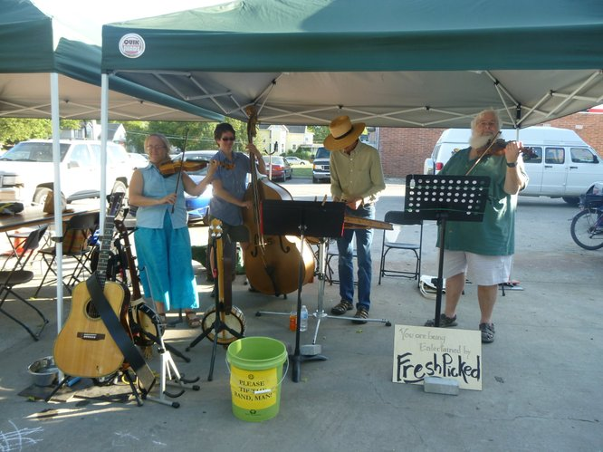 Fresh Picked will be pickin' and fiddlin' at Cottin's Hardware Farmers Market, Thursday, July 26, 2012.