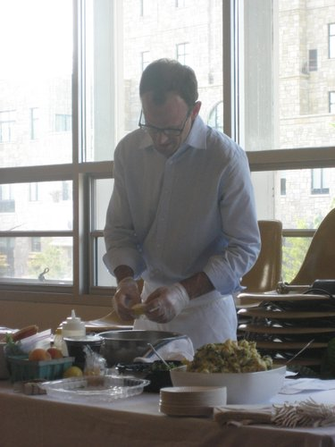 Chef, Rick Martin conducts a Local Food Tasting and Preparation training