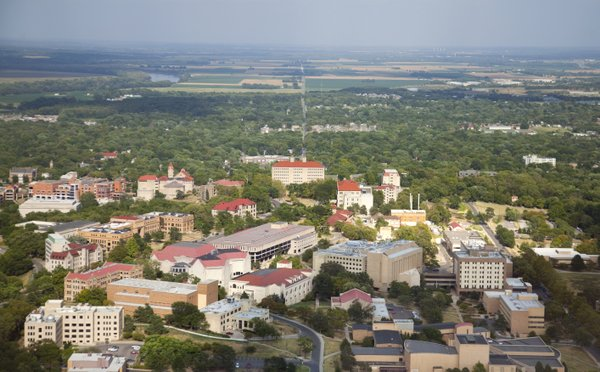 Kansas University, seen from the air.