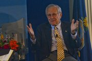 Former Secretary of Defense Donald Rumsfeld came to the Dole Institute of Politics on Thursday July 26, 2012, to talk about his life and career in politics, which saw some of the most infamous and pivotal times in recent history.