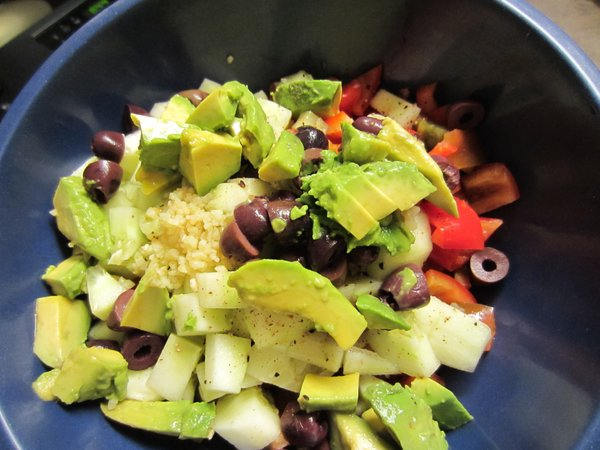 A chopped salad that's super easy and features some summer's best produce.
