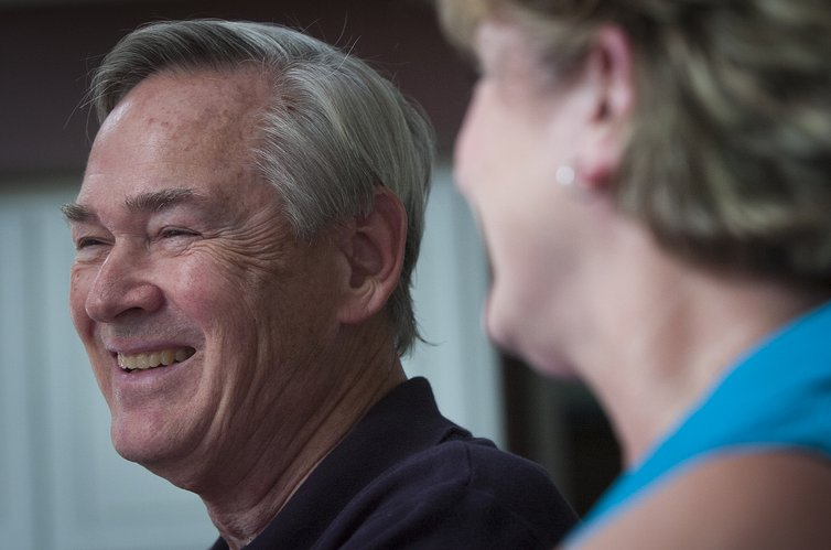 Now retired from politics, former U.S. Rep. Dennis Moore faces a new challenge in his life as he copes with the early stages of Alzhiemer's disease.
