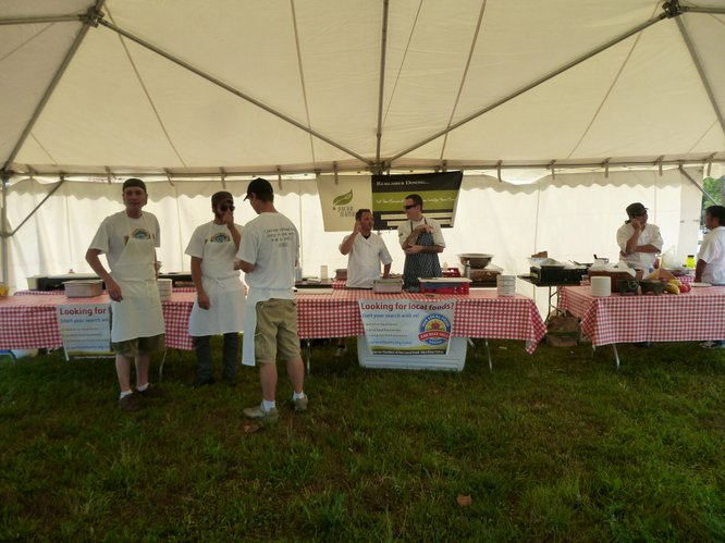 The Chef's Challenge will begin at 5:30 pm featuring three local chef's at the Farmers Market @ the County Fair, Thursday, August 2, 2012.