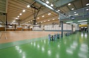 The basketball court of the New Century Fieldhouse operated by Johnson County Parks and Recreation in Gardner. It is an 88,000-square foot facility that had a price tag of $8.2 million plus interest costs.