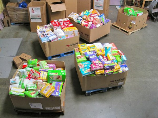 Over 17,000 diapers collected during the Just Food Diaper Drive.