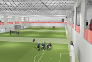 A rendering of the soccer field at the proposed rec center in northwest Lawrence.