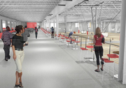 A rendering of the concourse at the proposed rec center in northwest Lawrence.