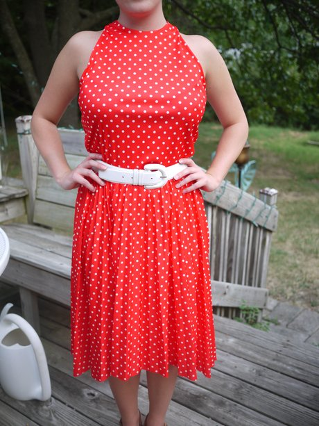 Vintage dress from salvation army 1601 w 23rd st was turned from