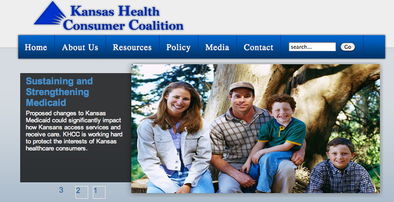 Kansas Health Consumer Coalition's website, uploaded