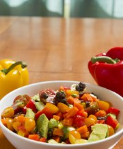 Nutritious: Sarah's colorful pepper salad with sunny vinaigrette showcases ripe bell peppers.