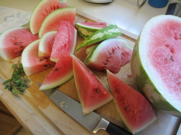 Mmmm, watermelon and mint.