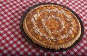 Peach almond tart made by Audrey Lintner.