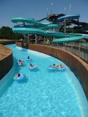 The new Transportainment River System at Schlitterbahn Kansas City Waterpark lets guests float through the entire park, experiencing the rides without ever having to leave the water.