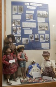 One exhibit at the Wakarusa River Valley Heritage Museum deals with the Underground Railroad and the work done to put on site an old windmill and the Freedom Rings sculpture by Stephen Johnson.