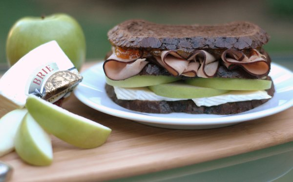 Tart apples are the best choice for this Ham, Brie and Apple Triple-Decker Sandwich, which combines creamy, crispy, savory and sweet in every bite.