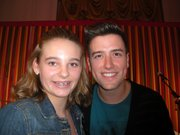 Rori Coyne, left, poses with Logan Henderson, member of Big Time Rush, Monday during the Kids' State Dinner at the White House. Rori's recipe for Yummy Cabbage Sloppy Joes earned her a seat at the lunch, hosted by first lady Michelle Obama.