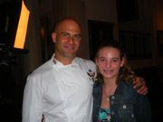 Rori Coyne, right, poses with White House assistant chef Sam Kass Monday at the Kids' State Dinner. Rori's recipe for Yummy Cabbage Sloppy Joes earned her a seat at the lunch, hosted by first lady Michelle Obama.