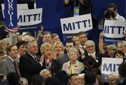 Delegates from the state of Georgia applaud after casting their votes for presidential candidate Mitt Romneyduring the Republican National Convention in Tampa, Fla., on Tuesday, Aug. 28, 2012.