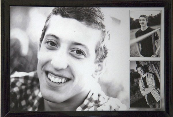 A photo of Ryan Zwiener is displayed in his parent's home. Ryan died by suicide on Dec. 3, 2011, after a battle with depression. His parents, Lisa and Raymond, said they don't want Ryan to remembered for his death, but for his 19 years of life.