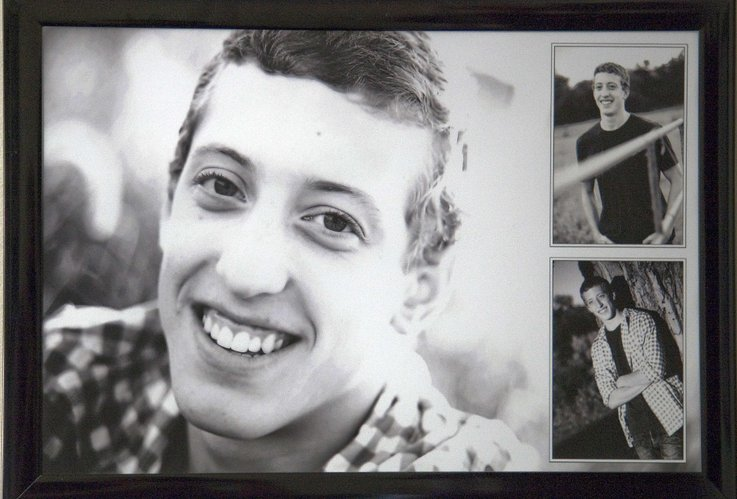 A photo of Ryan Zwiener is displayed in his parent&#39;s home. Ryan died by suicide on Dec. 3, 2011, after a battle with depression. His parents, Lisa and Raymond, said they don&#39;t want Ryan to remembered for his death, but for his 19 years of life.