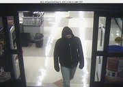 Police say this man entered Dillons, 1015 West 23rd Street, Wednesday around 4:30 a.m. and demanded money from a clerk. The clerk declined the request and told the suspect to leave, and the suspect did. No weapon was displayed during the incident.  The suspect was described as a white male in his 20s or 30s, about six-foot tall, with a thin build, black jacket and blue jeans.