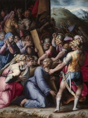 "The painting ""Christ Carrying the Cross,"" by Giorgio Vasari, circa 1555-1564, is pictured. A new exhibit at Kansas University's Spencer Museum of Art, ""Giorgio Vasari and Court Culture in Late Renaissance Italy,"" featuring the painting, opens Saturday."