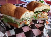 The Gator Po' Boy, with slaw, at Terrebonne Po' Boys and Desserts, 805 Vt.