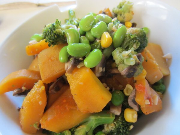 Butternut squash is actually totally delicious in a stir-fry.