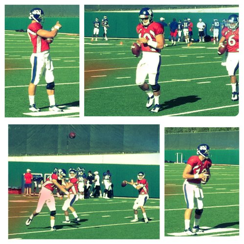 The many looks of KU quarterback Dayne Crist at Tuesday's practice.