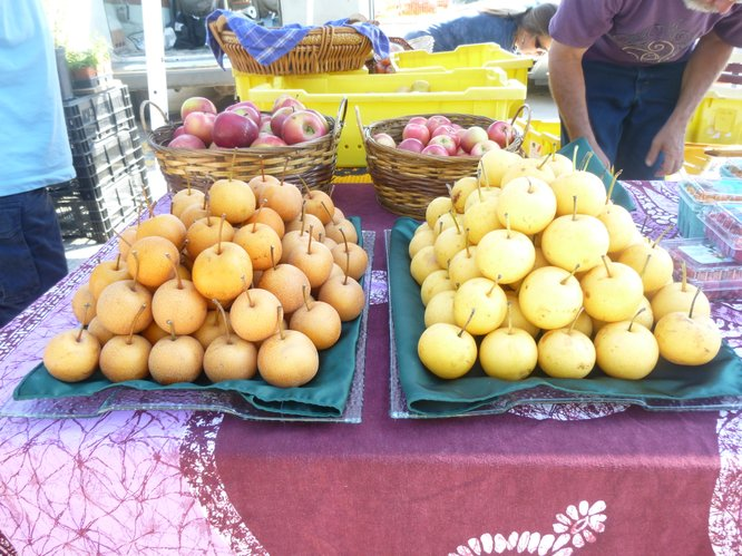 Asian pears from Fieldstone Orchard are available at Cottin's Hardware Farmers Market.