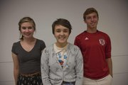 Lawrence High School's National Merit Scholars from left, Julia Drahozal, Hazlett Henderson and Connor Murphy.