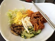 Bibimbap with pork at O Café Korean Restaurant, 1530 W. Sixth St., Suite E.
