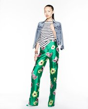 In this photo provided by  J.Crew, the  J.Crew Spring 2013 collection is modeled during Fashion Week in New York, Tuesday, Sept. 11, 2012. The pajama trend is here to stay, Tommy Hilfiger, American designer, said during the latest biannual New York Fashion Week. 
