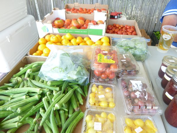 A wide variety of local produce is available at Cottin's Hardware Farmers Market on Thursdays - through October.