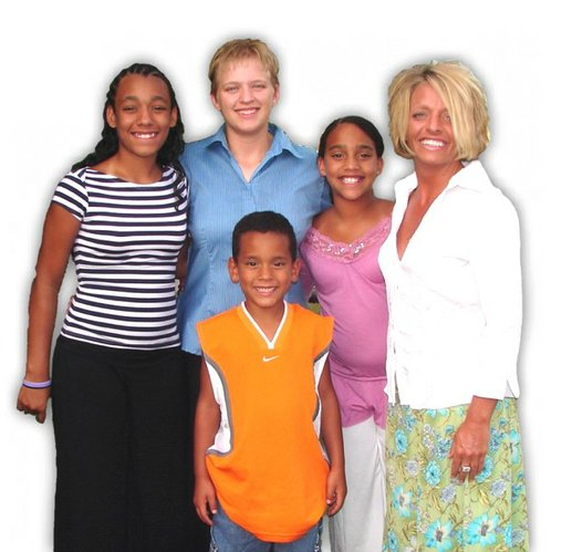 Trei Dudley's family when they first became Habitat homeowners.