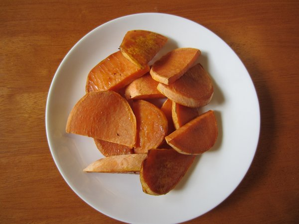 Sweet and Spicy Tropical Sweet Potato Slices.