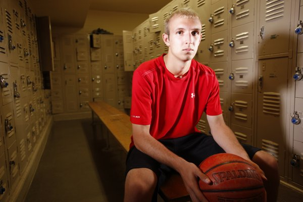 Wichita North senior and Kansas University recruit Conner Frankamp is pictured on Wednesday, Sept. 19, 2012, at Pleasant Valley Middle School in Wichita, where he works out daily with his father, Marty Frankamp. Frankamp said that although he is looked at as a shooter, he is preparing to play the point if needed for KU.
