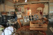 Susan Theroff's 40-foot-by-24-foot barn is full of furniture and other items she has refurbished.
