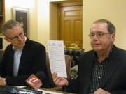 House Minority Leader Paul Davis, D-Lawrence, and Senate Minority Leader Anthony Hensley, D-Topeka, on Friday said Gov. Sam Brownback's tax cuts will lead to harmful budget cuts.