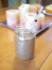 Nutritious: Sarah Henning's pumpkin spice chocolate smoothie can be a breakfast, snack or dessert.
