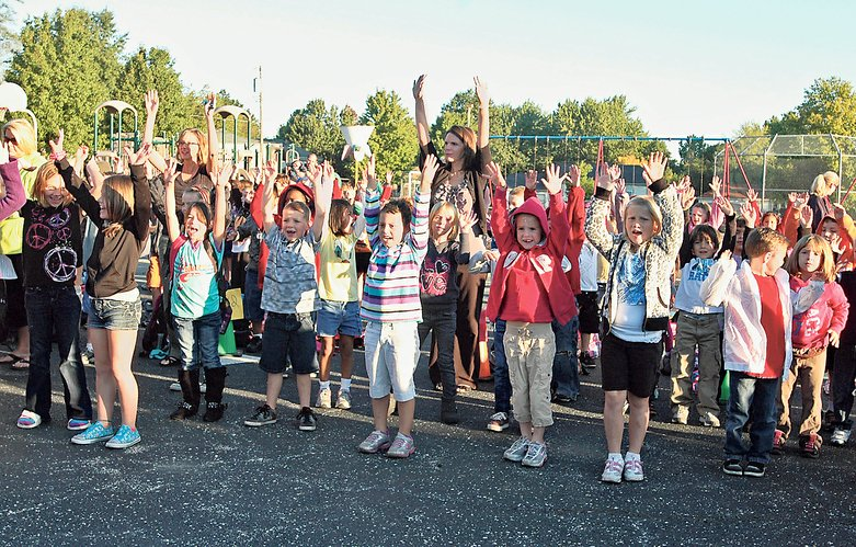 Students hit the pavement for Walk to School Day | Kiddos ...