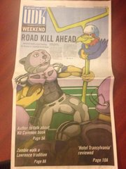 The cover of Thursday's University Daily Kansan, which apparently drew the ire of KU football coach Charlie Weis.