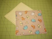 These baby washcloths have soft flannel on one side and a cute cotton print on the other. They're a quick and easy project and can be paired with the hooded baby blanket from a previous column for a handmade baby gift set.