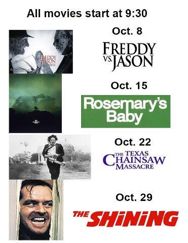 Monday Night SPOOKY SPOOKTACULAR SPOOKTOBER lineup