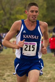 Kansas third-year sophomore Conner Day competes in the Haskell Invitational Saturday, Oct. 6, 2012, at HINU.