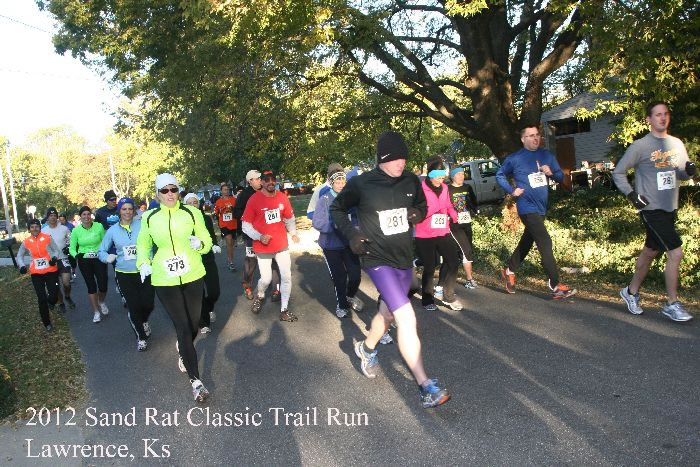The start of the 2012 Sandrat Trail Run courtesy of seekcrun.